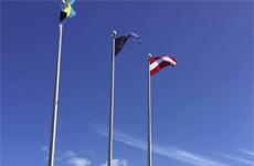 Bahamas Austria Flags Government House Nassau